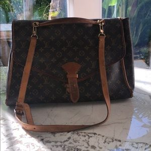 LV Beverly Satchel with strap